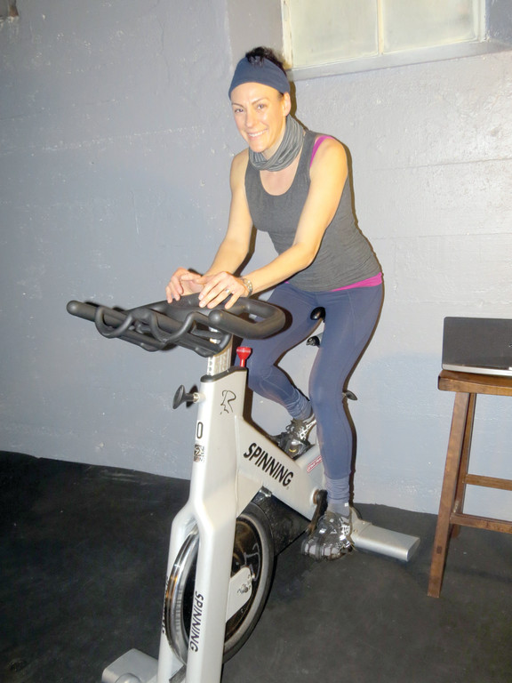 SPINNING FOR A CAUSE: For the second year in a row, owner of The Edge Fitness For Women Natalina Earls will be participating in the national Pedal To End Cancer event. Participants will join spin classes for up to three hours on the morning of March 2, raising money for the American Cancer Society.
