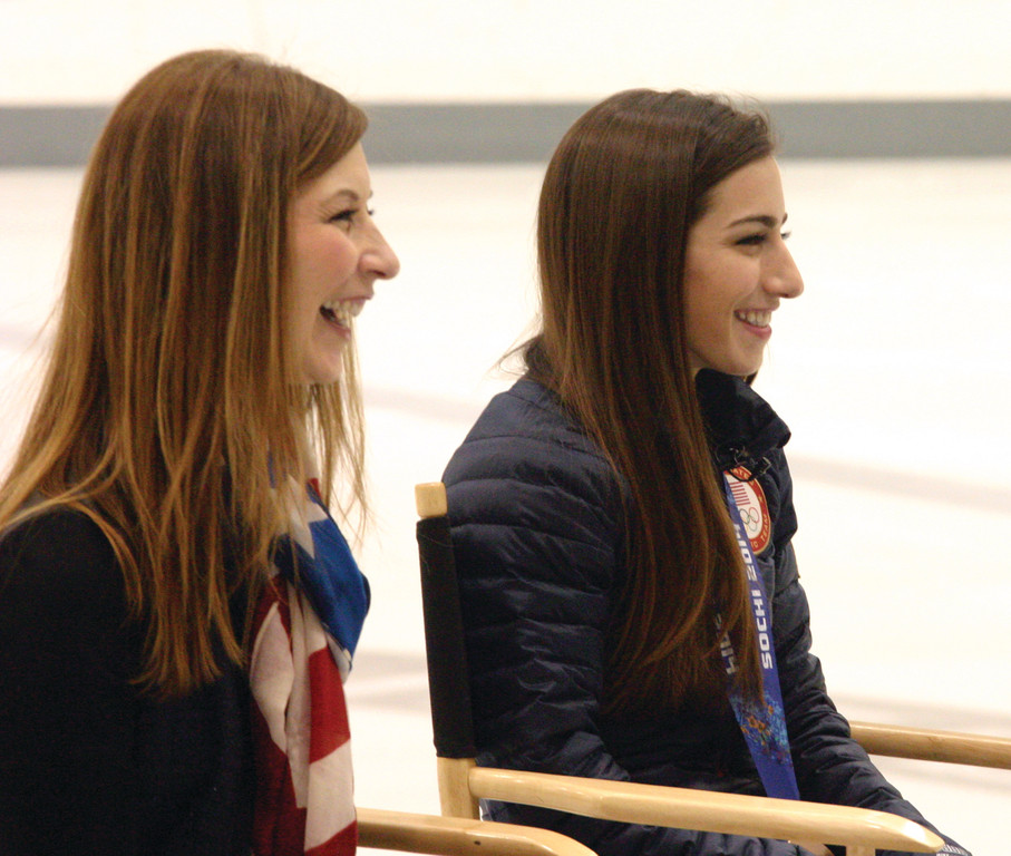 HAPPY TO BE THERE: Lori and Marissa Castelli are all smiles