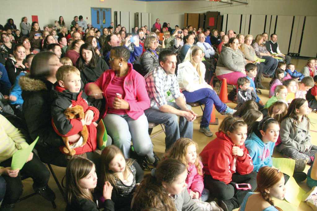 A FULL HOUSE: Seats were at a premium for the 7th annual Hoxsie School Talent Show held Friday at the school.