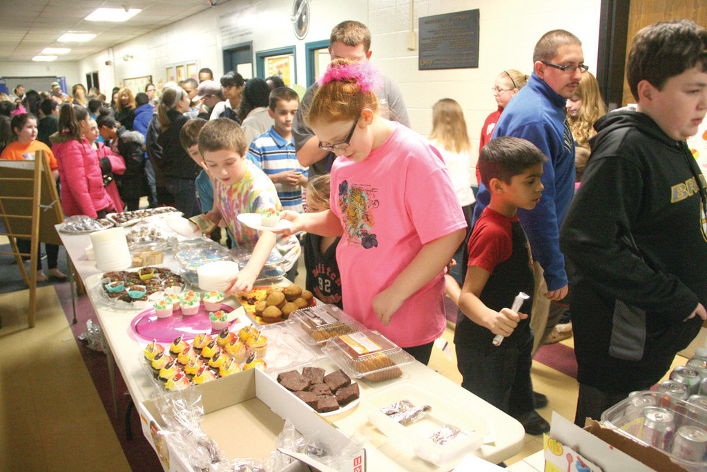 GOODIES GALORE: There was a wide selection of baked goods and other delights for the audience to pick from during intermission. The talent show raised more than $500.