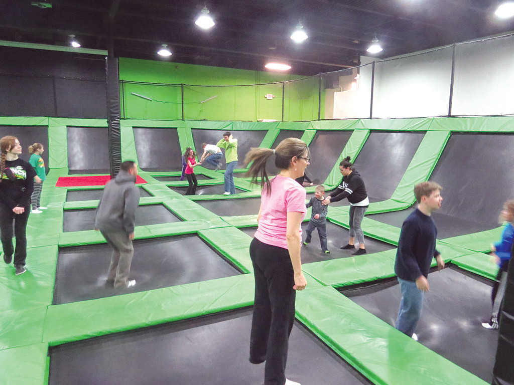 RUN OF THE PLACE: The first Tuesday of every month is Special Needs Day at Launch Trampoline Park; the popular facility opens at 4:30 p.m. to provide a special hour of jumping on their 66 trampolines just for those living with special needs.