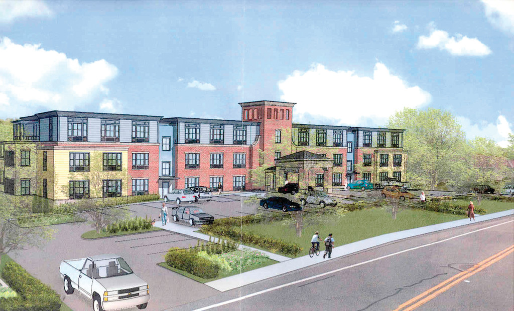 Architect's rendering of proposed assisted living facility on Post Road.