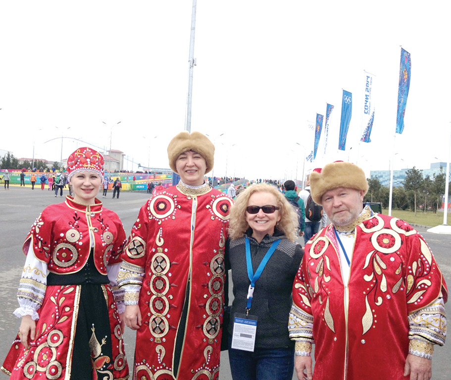 EXPERIENCING RUSSIA: Warwick's Lou Ann Botsford was able to take in some Russian culture while working as a massage therapist for the U.S. Men's Ski Jumping Team at the 2014 Winter Olympics in Sochi, Russia last month.