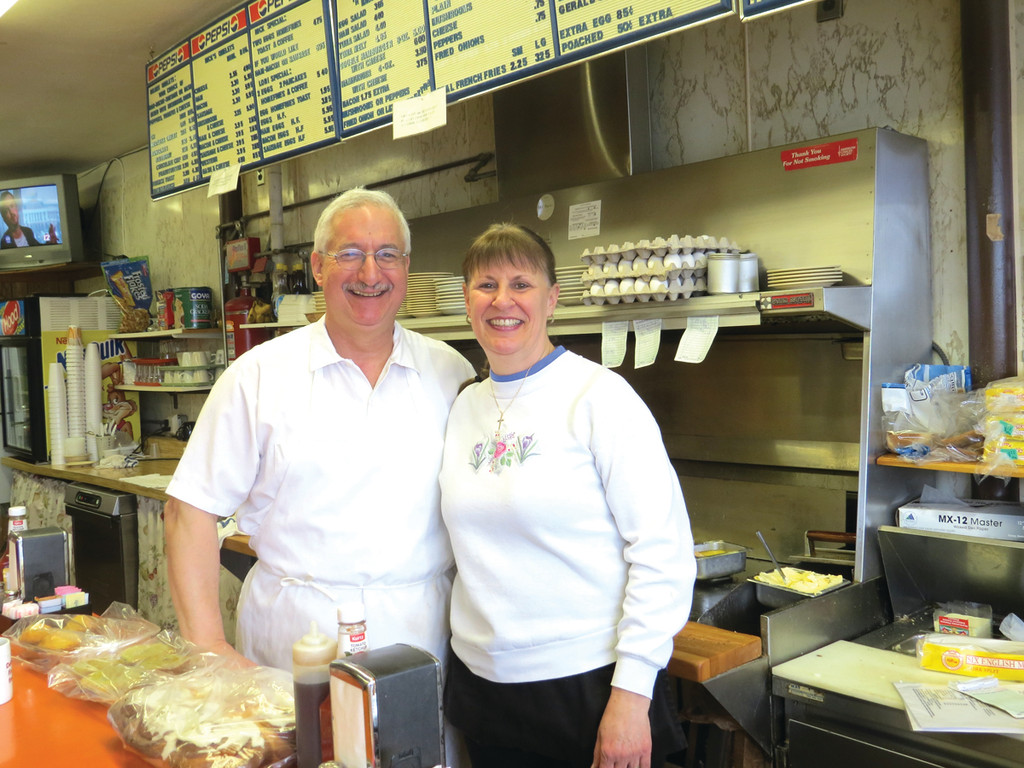 HOME COOKING: At Nick and Joan's Place on Warwick Avenue, Nick Degaitas and his wife Joan serve up breakfast and lunch to a loyal group of customers with the goal of making them feel like part of a family.