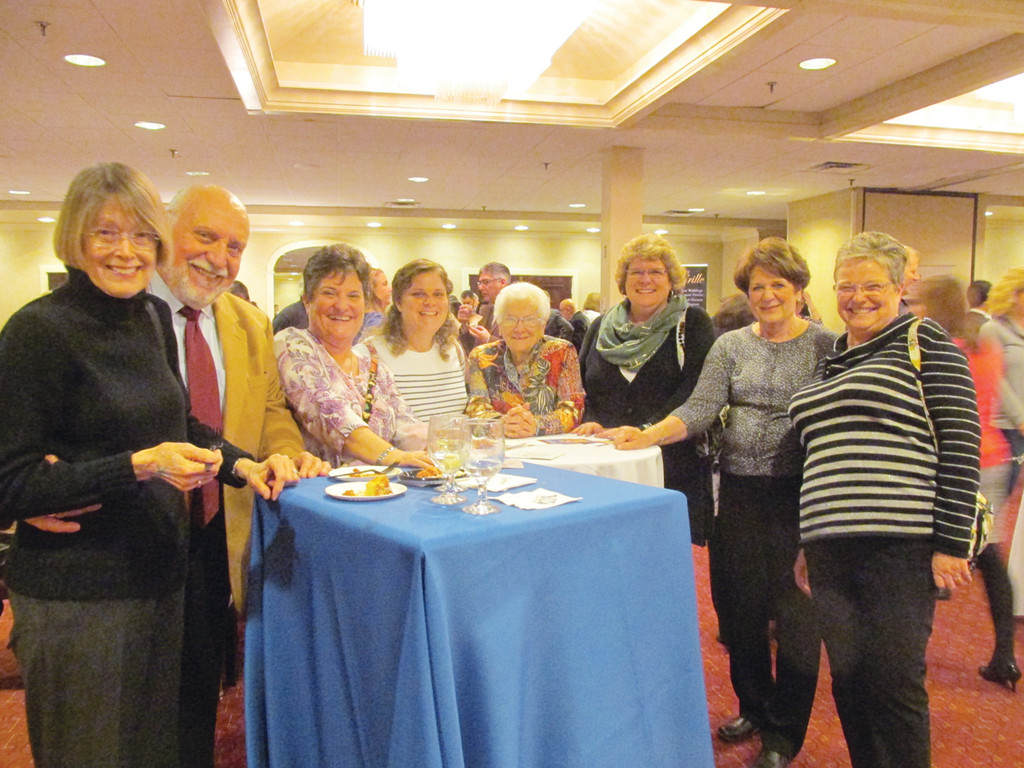FOOD AND FRIENDSHIP: Among the 400-plus people who enjoyed classic creations and camaraderie at last Wednesday evening's Gourmet Gala were Susan Russo, Robin Russo, Pam Haigh, Bethany Skinner, Eileen Bajorke, Dianne Silvia, Deborah Ladouceur and Eileen McDermott.