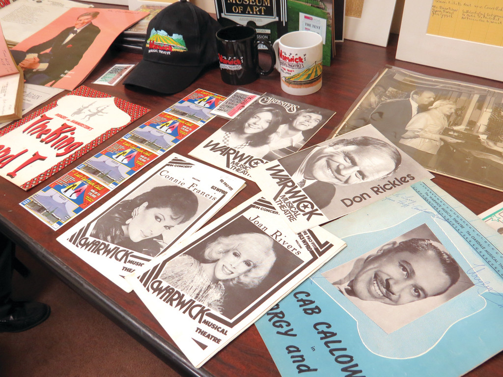 FROM THE PAST: Donated memorabilia from the Warwick Musical Theatre, featuring many well-known entertainers, is seen in this 2014 file photo.