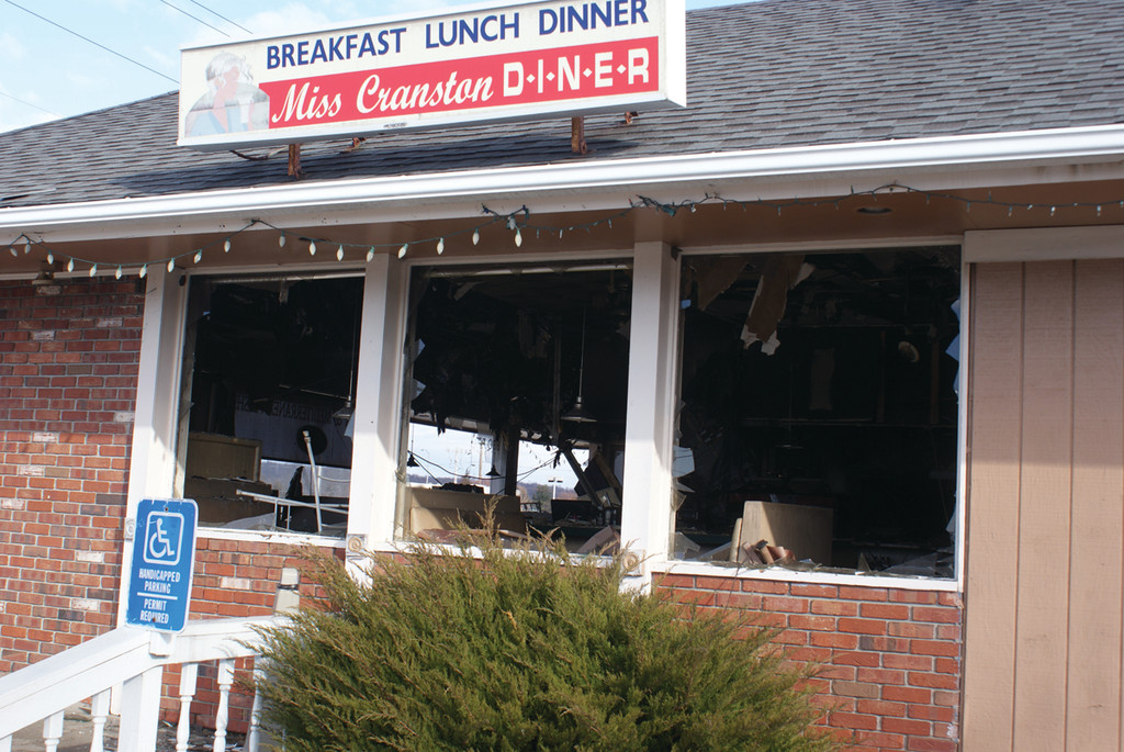 AFTERMATH: The historic diner, which has been a fixture in the community for decades, was heavily damaged in the fire. Officials have ruled the cause accidental.