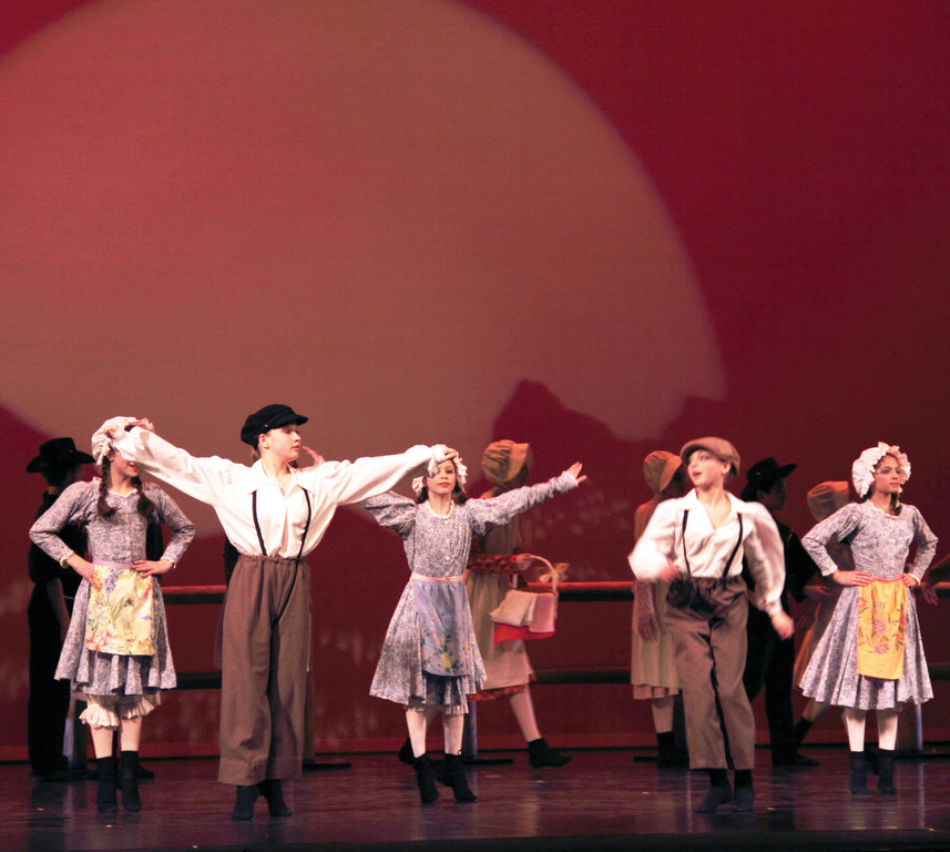 Ballet dancers from The State Ballet of Rhode Island perform its new production Cowboys, Cadets & Collaborative Works, which features music written by Noreen Inglesi.