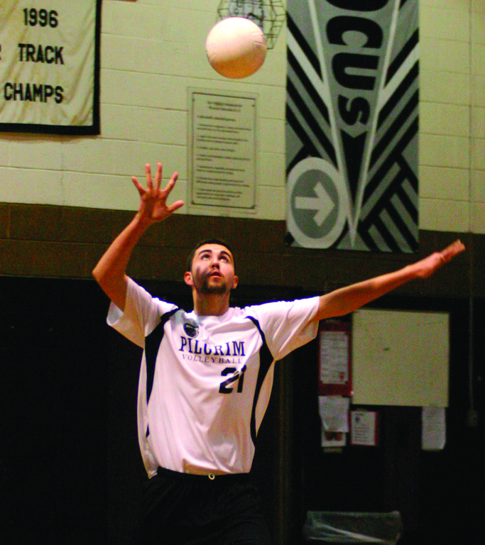 Phil Nemirow lines up a serve in a game last season.