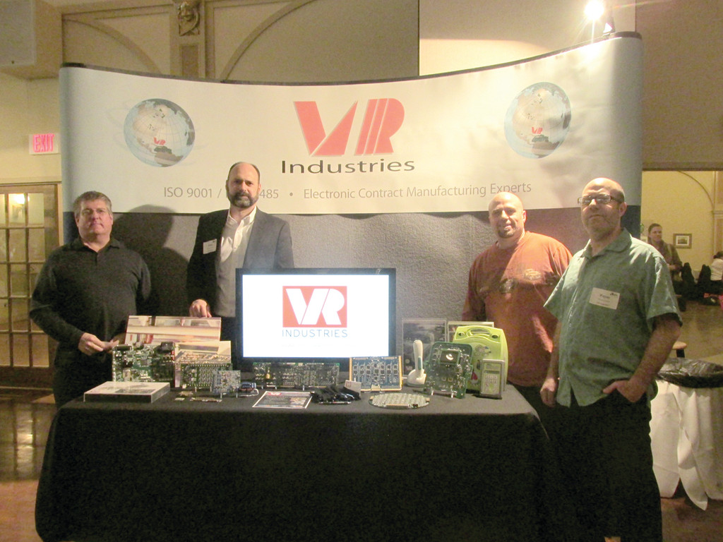 FROM VR INDUSTRIES: Warwick-based VR Industries was well represented at Tuesday night's Statewide Business After Hours by John Mangini, President and CEO Brian Pestana, Wayne Sanita and Mark Sanita.