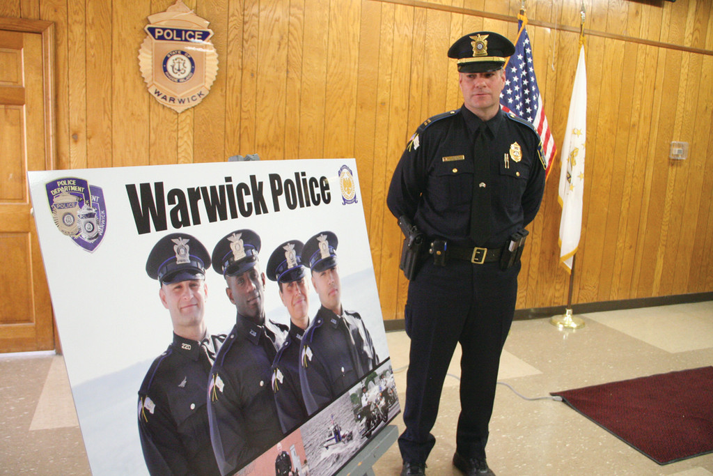 LOOKING FOR RECRUITS: Captain Thomas Hannon, who is heading the department's drive to recruit police officers, spoke at Friday's announcement. The drive runs through May.