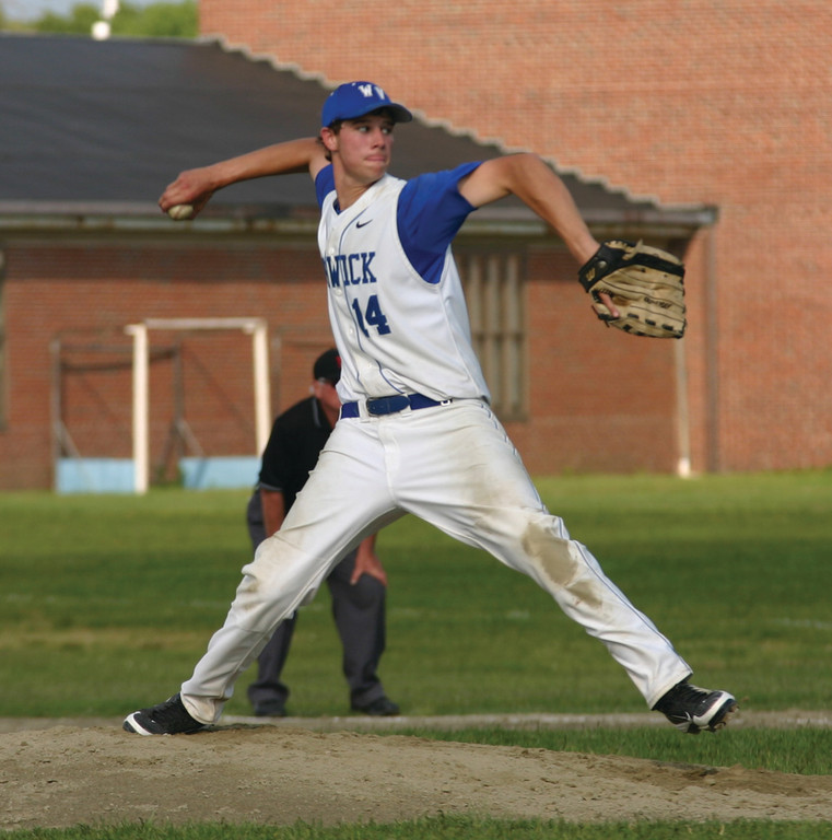 STRONG START: Dan Greaves, pictured last year, tossed a one-hit shutout as Vets opened the season with a 13-0 victory over Mt. Pleasant on Tuesday. Greaves heads a rotation that should be among the best in Division II.