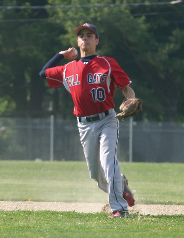 STILL GOING: Alex Lefebvre, pitctured last season, is one of only a handful of players with varsity experience on the Toll Gate roster this season.