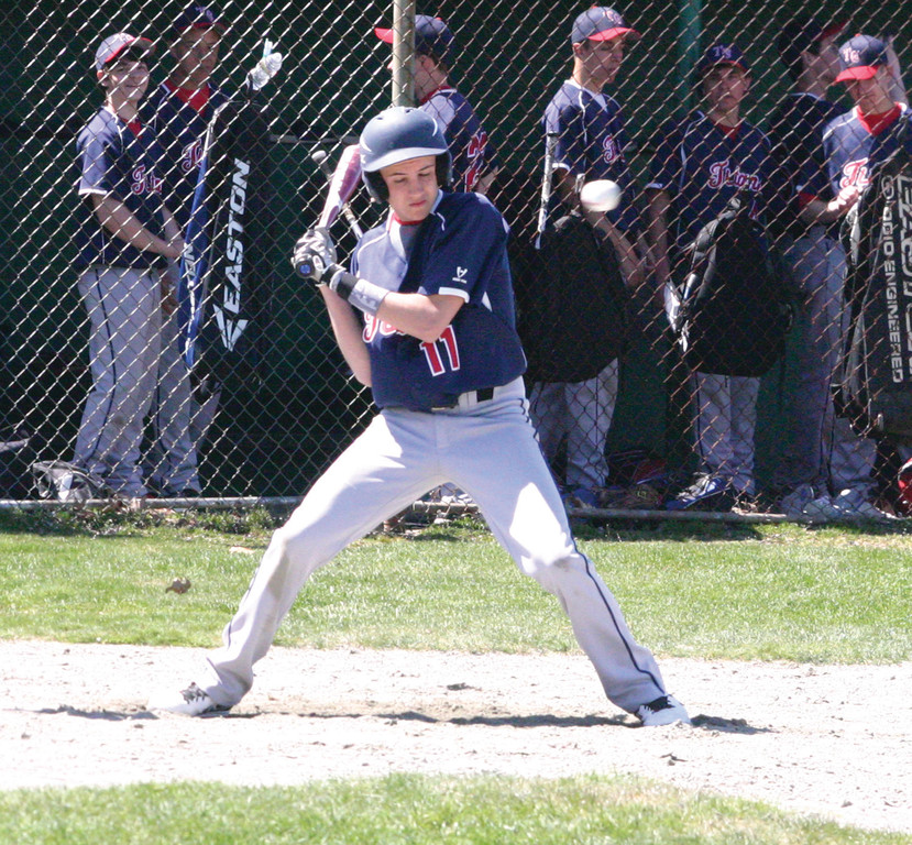 James Meizoso watches a pitch in the batter's box last season.
