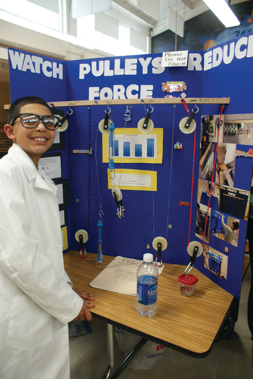 At the science fair | Johnston Sun Rise