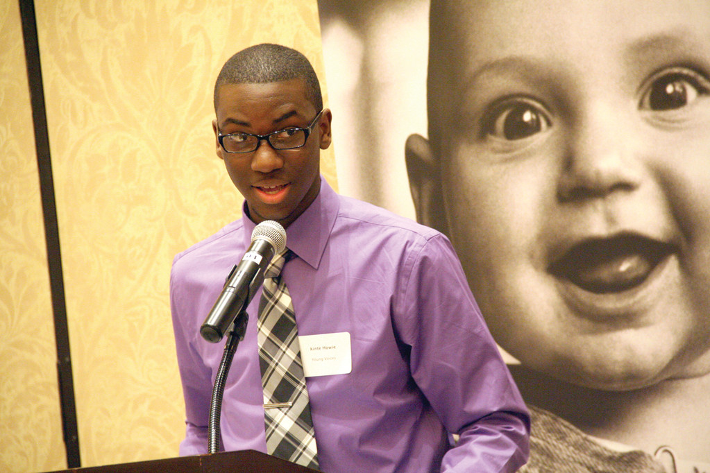 "CALL FOR BETTER SCHOOLS: Kinte Howie of Young Voices Rhode Island said, ""Our schools are falling apart structurally and metaphorically."" He said schools need to be ""more student-centered"" to address issues of high absenteeism and low graduation rates. ""This is a long road of recovery,"" he said, ""let's walk this road and walk it briskly."""