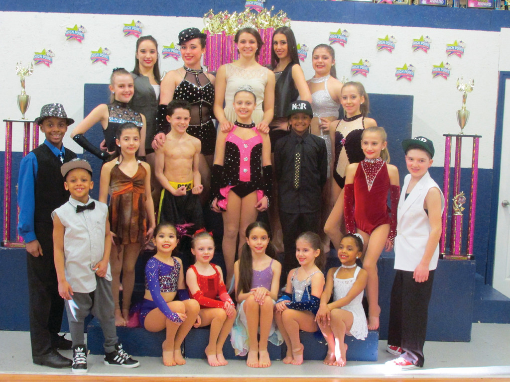 RIGHT MOVES: The team from High Steppin' Dance Academy in Johnston won numerous awards recently during the Kids Artistic Review competition in Torrington, Conn.