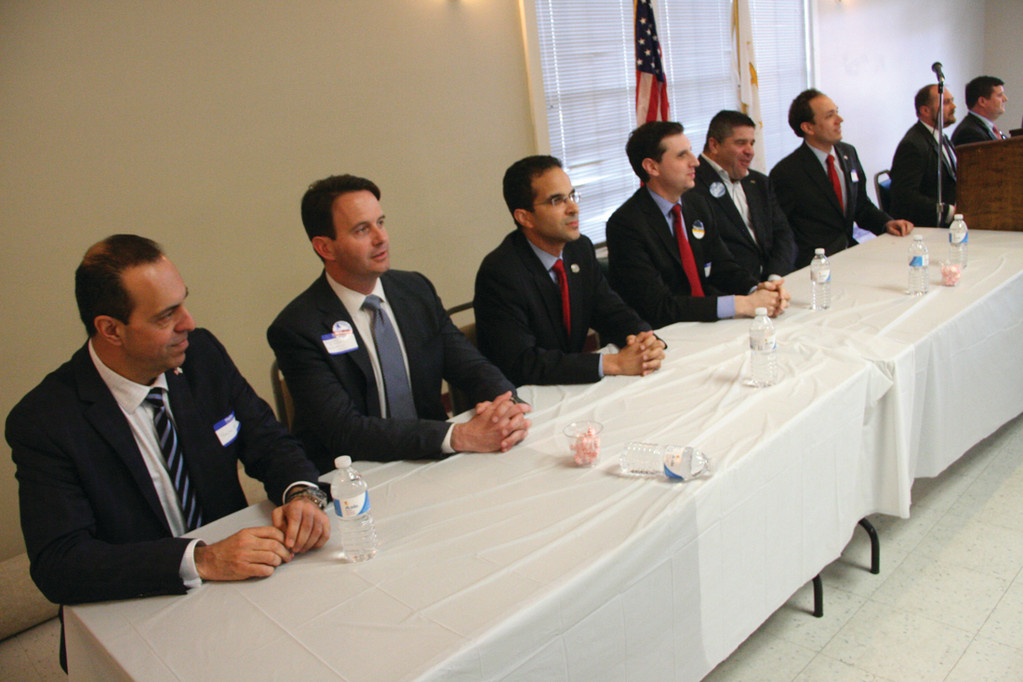 IMPRESSIVE LINEUP: With the exception of two candidates, all of those seeking a statewide office or their representative participated in the event hosted by the Warwick Community AARP Group.