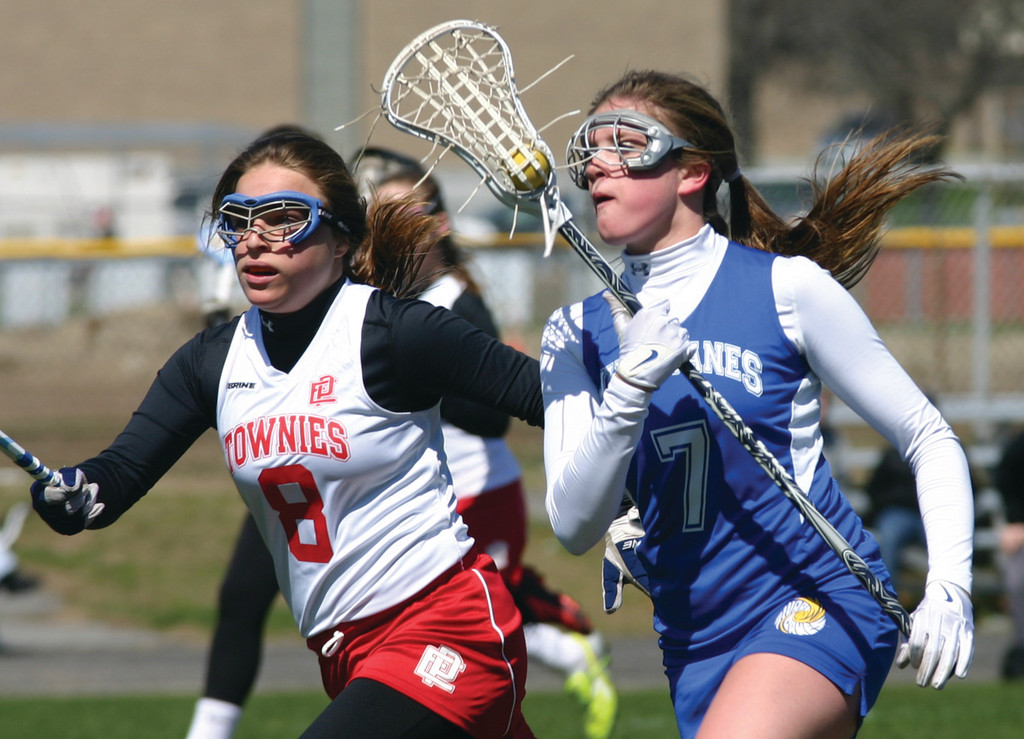 FULL SPEED AHEAD: Savannah Hersey breaks into the open field for Vets during Thursday�s game with East Providence. Hersey scored five goals as the �Canes won 19-7 for their second victory of the year.