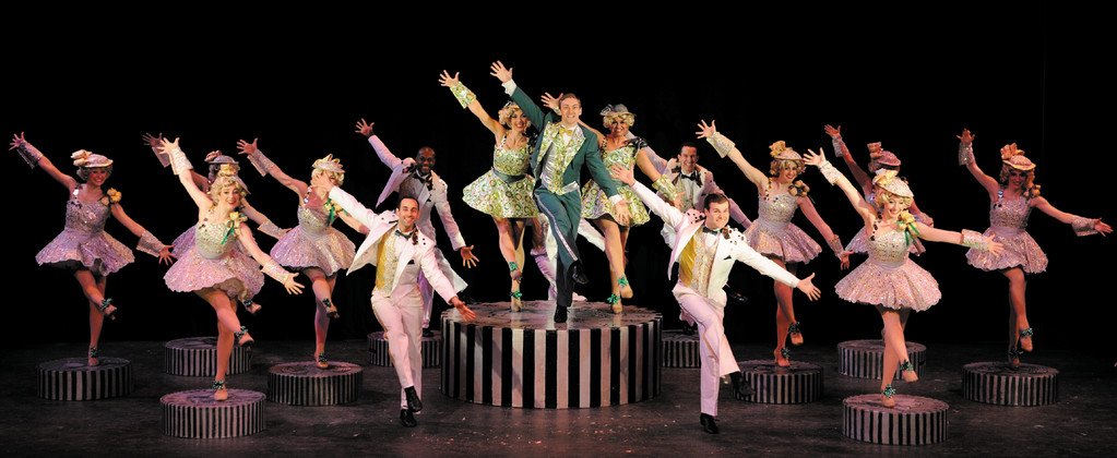 The cast of �42nd Street,� which is playing at Ocean State Theatre in Warwick.