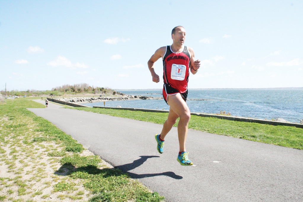 FIRST IN THE FIRST 5K: Norman Bouthillier, a teacher-coach at Warwick's Toll Gate High School who lives in Exeter, won last year's Rocky Point 5K Road Race with a time of 18:04.7. To date, 143 runners have entered the May 10 event.