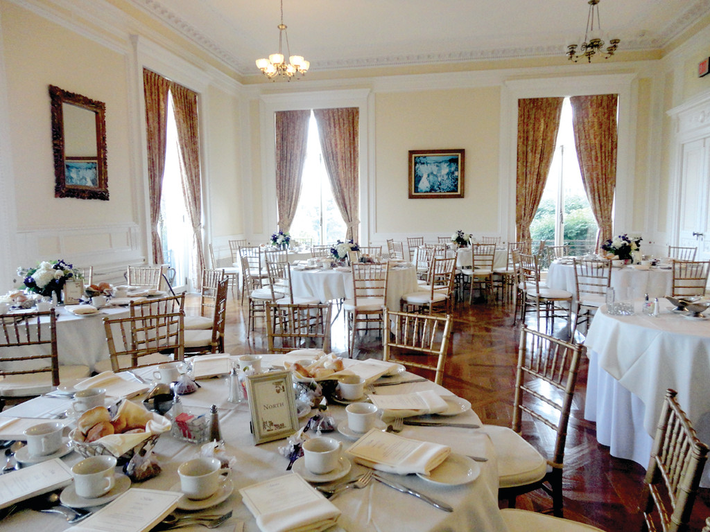 TAKE A SEAT: Families attending the brunch will be treated to gorgeous seating and excellent service, mirroring weddings at Aldrich Mansion.