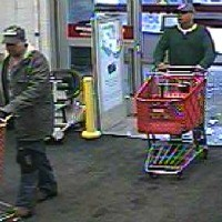 Two men are being sought in connection with the April 23 theft of nearly $3,000 worth of tools from the Lowe's on Route 2 in Warwick.