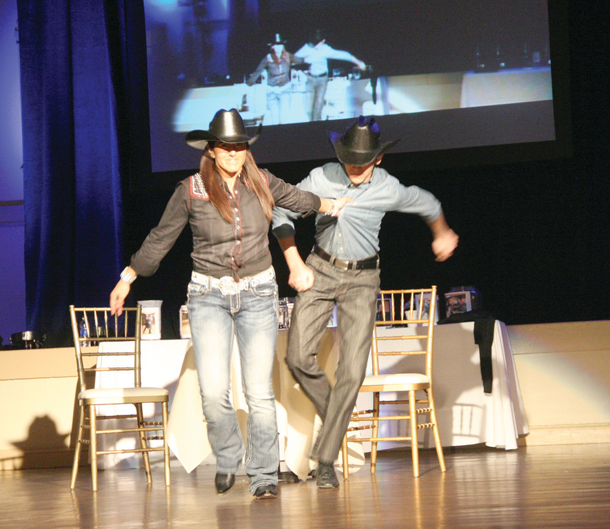 GIDDY UP: Shameem Awan of Amica Insurance and her pro partner Anthony Scalzi won People�s Choice, bringing in over $21,000.