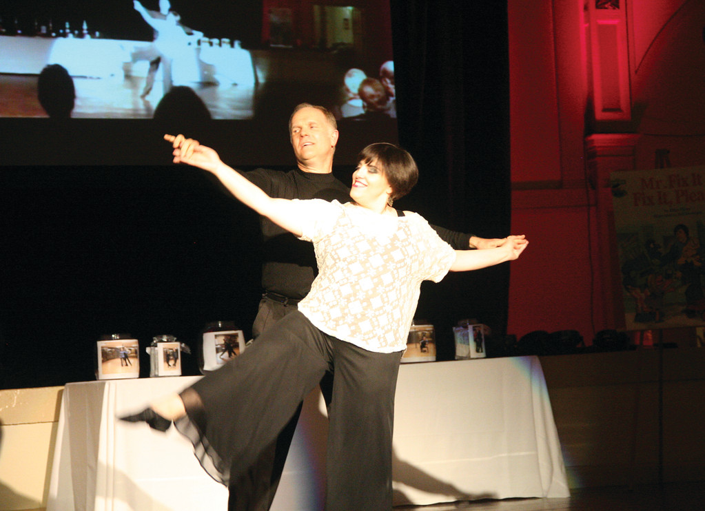 PLEASANT SURPRISE: Winners of Judge�s Choice, Susan Houle and her pro partner Randy Deats wowed the judges with their �effortless� Viennese waltz.