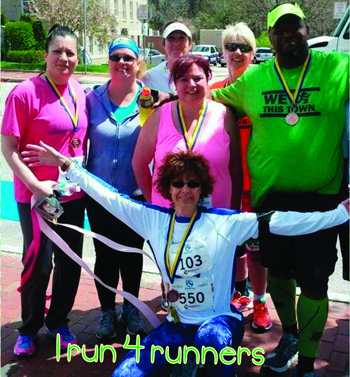 RUNNING WITH PURPOSE: A few of the runners who participate in IRun4You ran the Navigant Half Marathon on Sunday. Pictured: Heidi Martini, Sue Henderson, Robert Henderson, Nicole Walker, Johna Munson, Deb Batista, Susan Nguon.