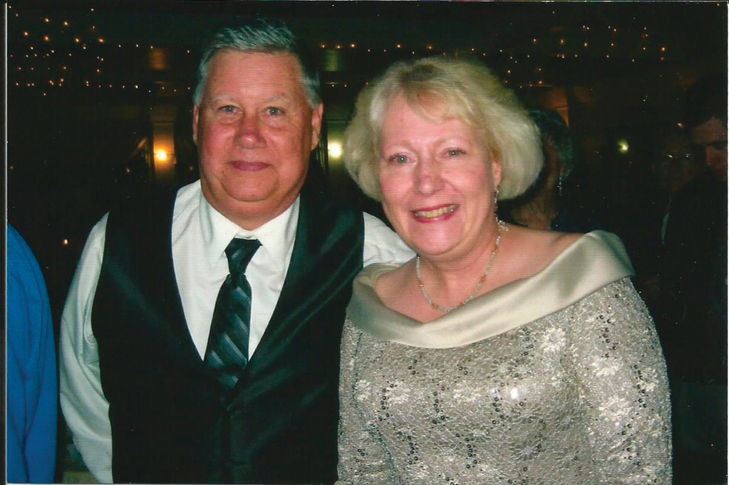 HAPPIER TIMES: Tom and Mary Kelly are pictured at their son Patrick's recent wedding. A scholarship has been 