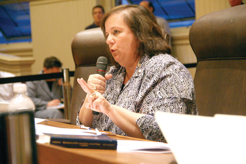 A STARTING POINT: Ward 3 Councilwoman Camille Vella-Wilkinson outlines proposals for term limits at Monday's Council meeting.