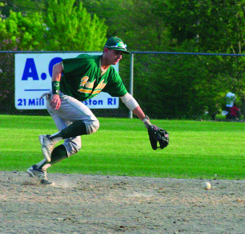 John Willette ranges to his left for a ground ball on Monday.