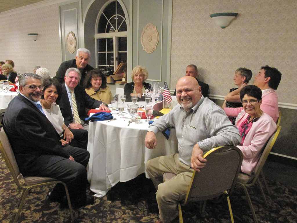FELLOWSHIP: Among those people who attended last Saturday night's fun-filled fellowship at West Valley Inn was Frank Giorgio, whose family once owned and operated the former Club 400 located in the Natick section of West Warwick. The group also includes: Liz Silvestri, Harold and Linda Gorman, Councilman Angelo Padula, Gloria and James Carrara, Lisa and David Parente and Alan and Norm Palazzo.