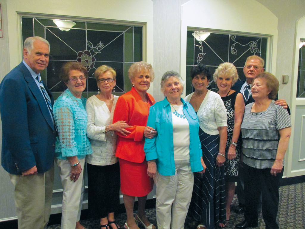 PUTTING IT ALL TOGETHER: The fun-loving yet hardworking committee that put on a prolific production last Saturday night at West Valley Inn includes, from left: Reggie Centracchio, Angie Petrarca, Kitty Petrarca, Shirley Ruggieri, Liz Enos, Roselyn Nichols, Linda Centracchio, Roseanne Melone and Sam Parente.