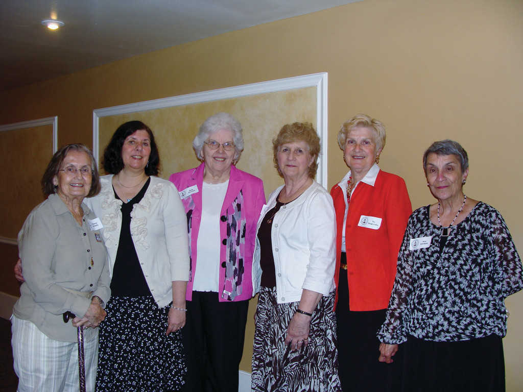 OFFICERS: Pictured left to right, Elenor McSally, vice president, Diane McMahon, treasurer, Sally Connors, corresponding secretary, Roberta Bianco, recording secretary, Tia Scigulinsky and Ann Gardella, executive director.  These women of RIRTA promote education throughout their organization and their communities by supporting retired and active teachers, charitable work for students throughout Rhode Island.
