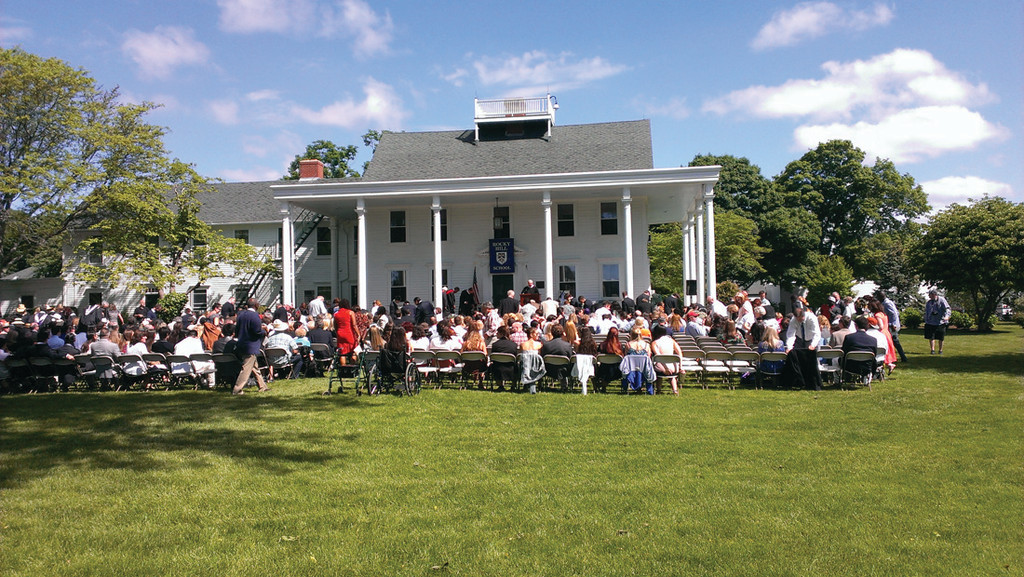 GRADUATION: Family and friends gathered at Rocky Hill School for graduation of 36 students last Friday on a beautiful day on the Front lawn of the Hopelands building.