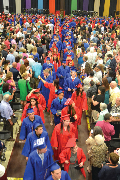 The Toll Gate Class of 2014 was the first of the three public high school classes to graduate.