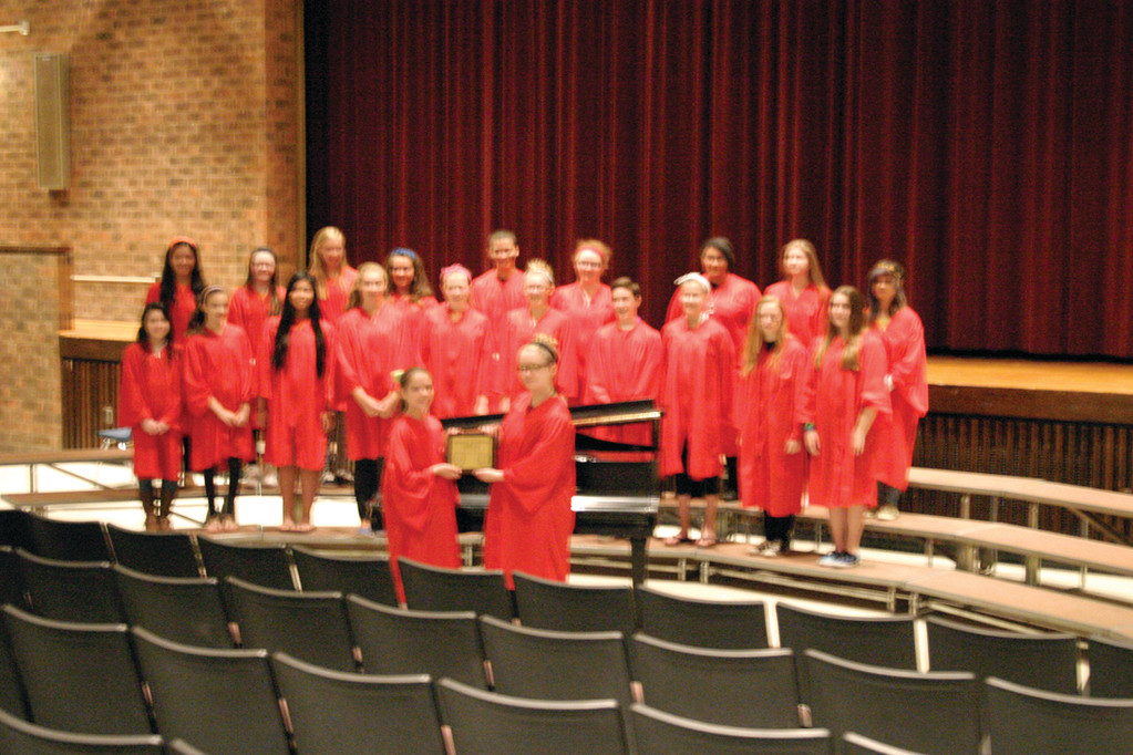 THE CHORALE WINS GOLD: These dedicated  Winman students sang their way to a gold medal. The chorale was awarded a gold medal at the Great East Music Festival on May 23.