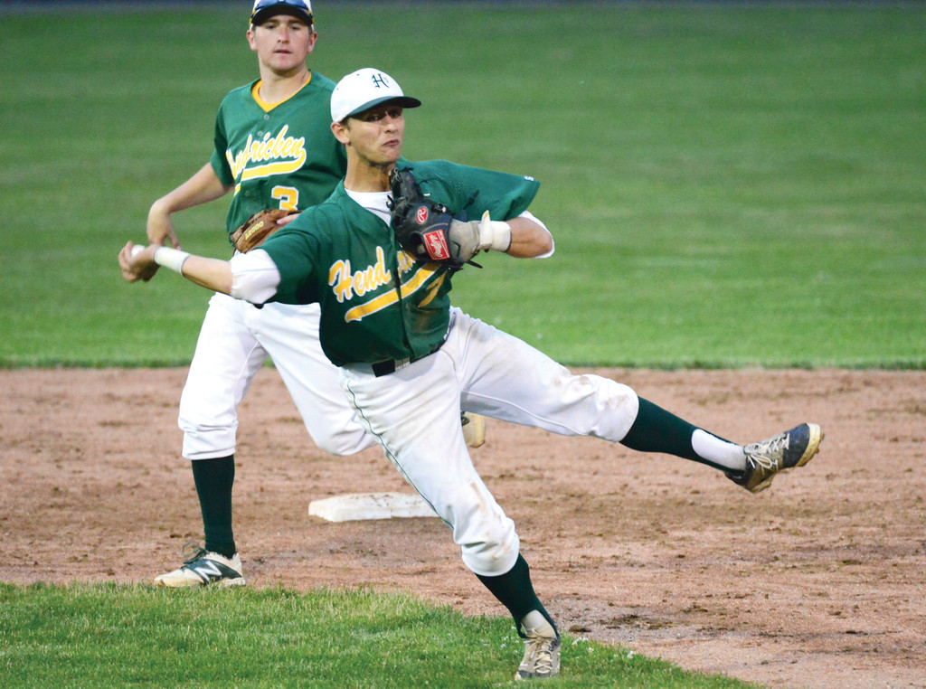 MAKING PLAYS:  Hendricken shortstop John Willette makes a play on the infield during Tuesday�s series-clinching win over Cranston West.