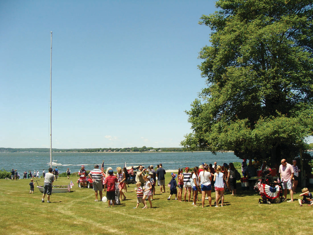 WHAT A VIEW: Nixon�s backyard is where the Warwick Neck community gathered after the parade to spend the fifth of July together. Nearly 300 people gathered in the large backyard.