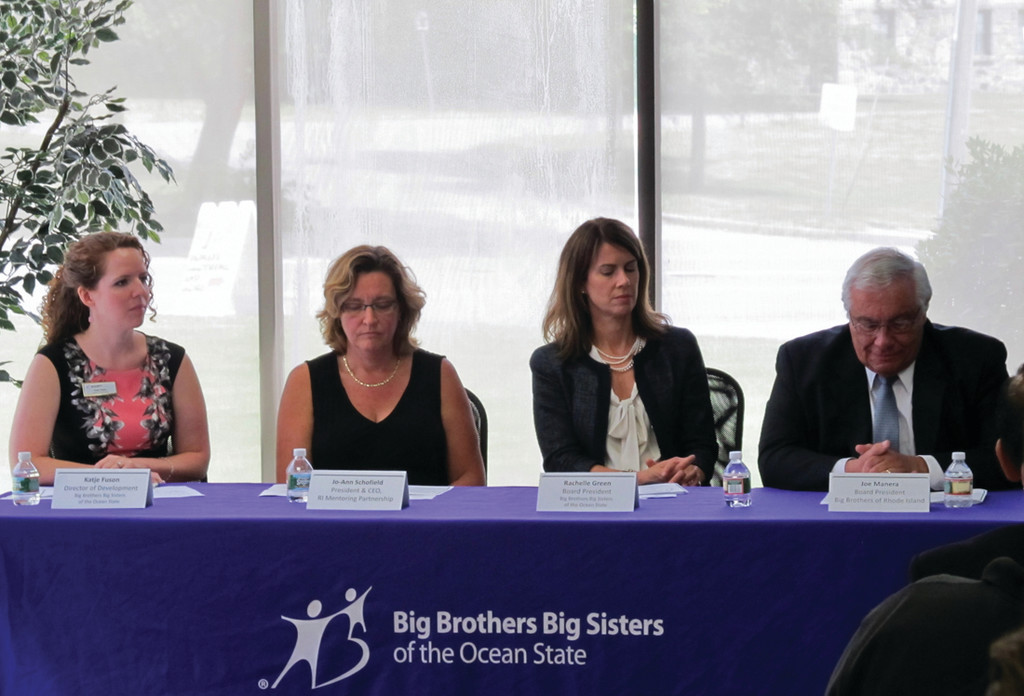 HISTORIC COLLABORATION: From left, Katje Fuson, Jo-Ann Schofield, Rachelle Green and Joe Manera announce the merger of BBRI and BBBSOS.