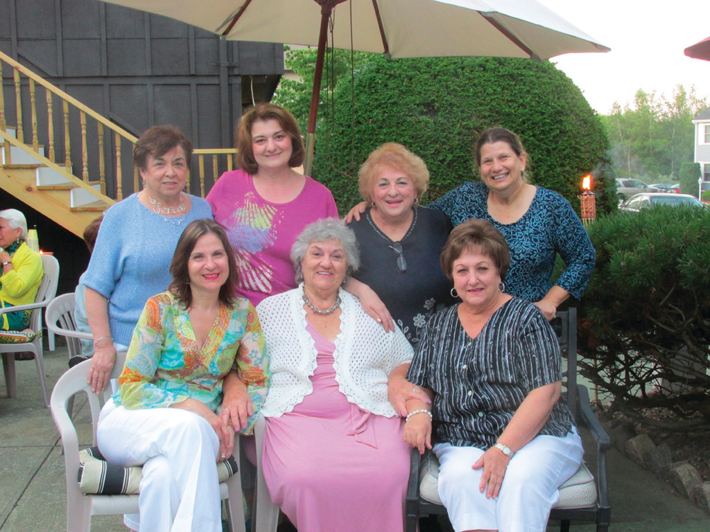 LEADING LADIES: Among those Ladies Philoptochos Society members who hosted and coordinated last Saturday evening's unusual Progressive Dinner were, front from left, Anna Demetrakas, Marianne Janigian and Georgia Pappas; and back from left, Bessie Papigiotis, Karen Drager, Josie Calogerakis and Marianne Phelan.
