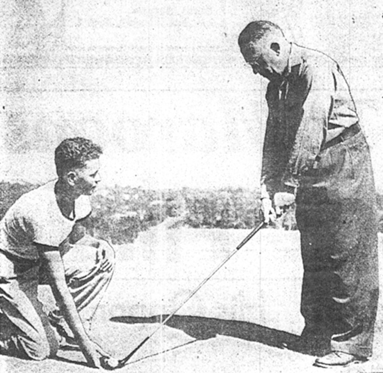 THE PIONEER: Clinton Russell, of Duluth, Minnesota was the first blind golfer in the United States. He won a match against British blind golfet Beach Oxenham in 1938.