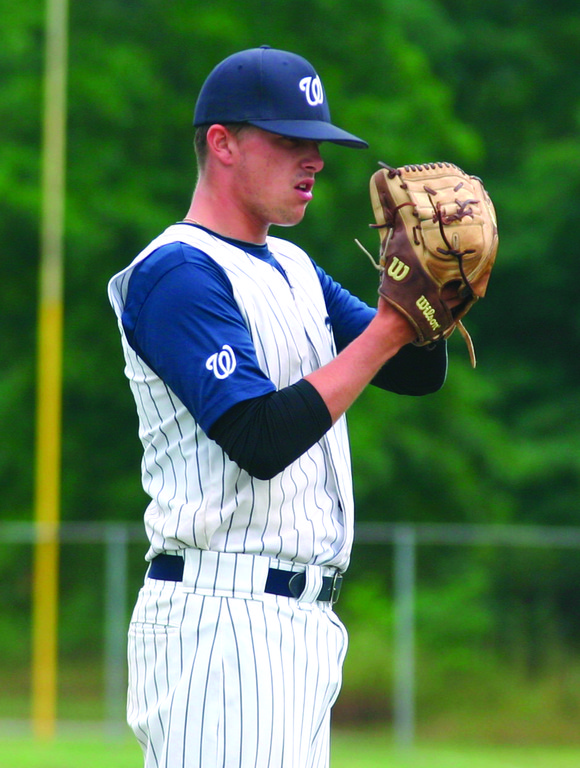 DEALING: Bobby Lineberger struck out 14 as Warwick opened the Connie Mack playoffs with a win.