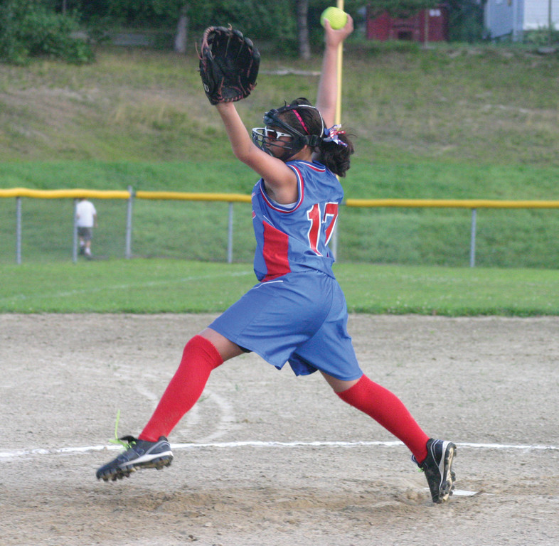 Ava Brandow, pictured during the state tournament, threw one of CNB's two no-hitters during pool play at the Eastern Regional.