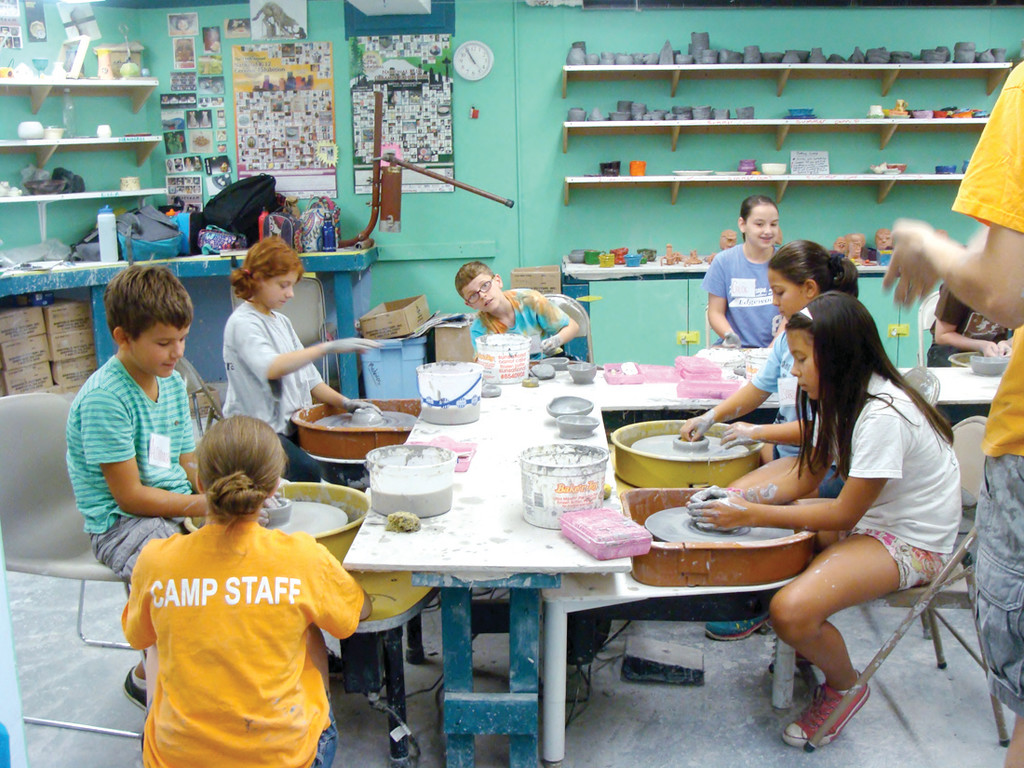 SUMMER CAMP: Artists' Exchange hosts numerous summer camps for children from 5 years old to teens. Were Artists' Exchange to relocate to Warwick, residents of the city would be able to receive discounts toward summer camps and birthday parties, among other benefits. Pictured is a ceramics summer camp.