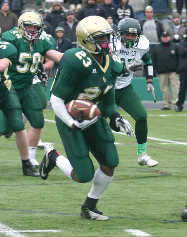 NEXT STEP: Hendricken football star Lee Moses has committed to play D-I football at the University of Massachusetts.