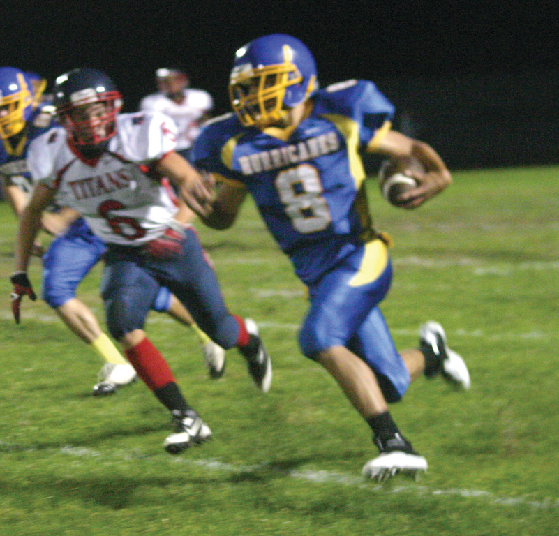 Mickenzey Pacheco, pictured during a game against Toll Gate last season, is one of Vets' most experienced players from last season and will likely be the team's primary ball carrier.