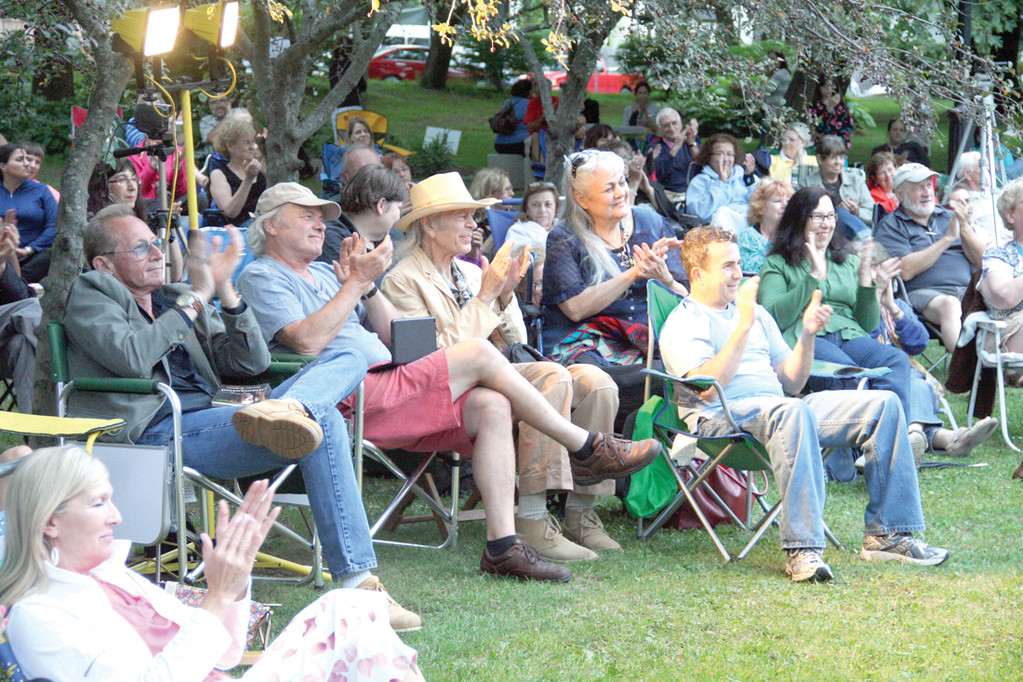 SUMMER STAGE: An audience numbering more than 200 gathered around the park gazebo for the final performance in the summer series.